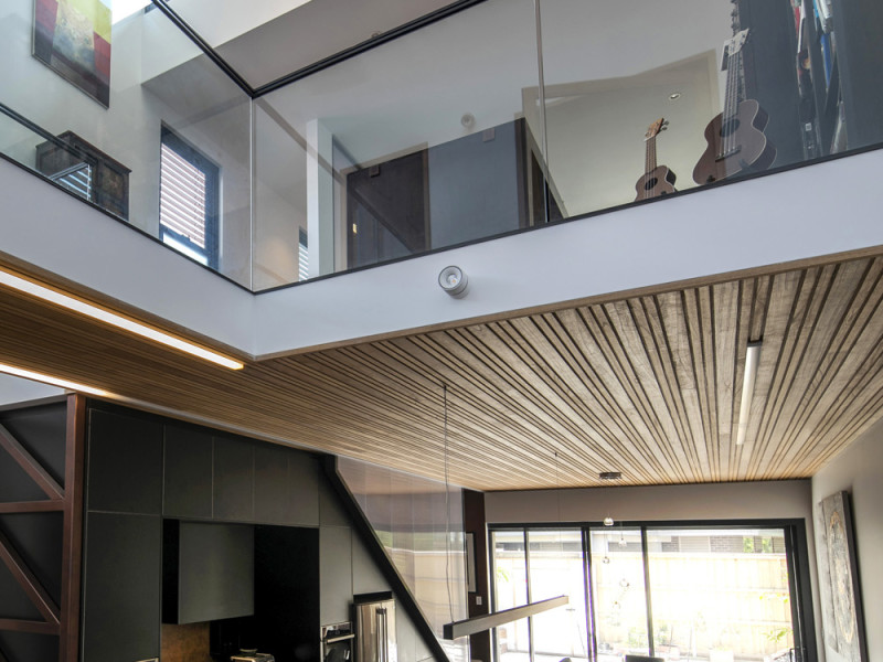 Marrickville semi, double height spaces